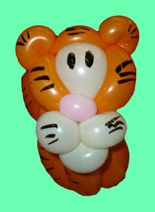 Ballonkuenstler-Ballontiere-Tiger Luftballontiere für Eröffnung-Tag der offenen Tür-Messe
