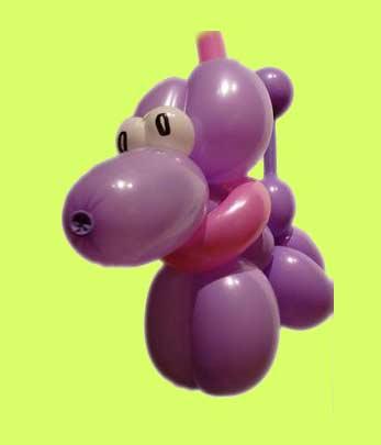 Hund an der Leine Luftballonfiguren