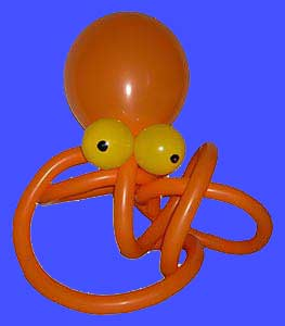 Krake aus Luftballons Ballontier