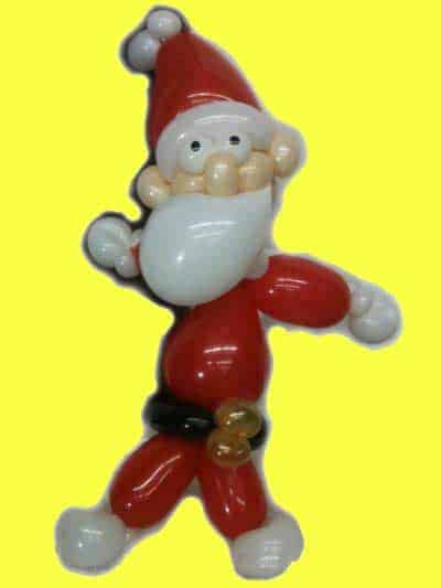 Weihnachtsmann Nikolaus aus Luftballons